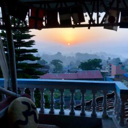 Sunrise from balcony in India