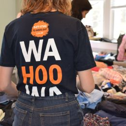 Wahoo wa t shirt at the UVA Earth Week clothing swap