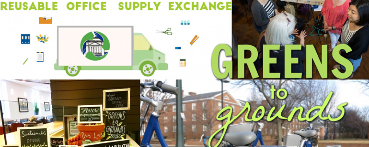 graphic with green initiatives