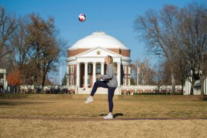 In her four years at UVA, Lawn resident Zoe Morse has done much more than just play soccer. (Photo by Dan Addison, University Communications)